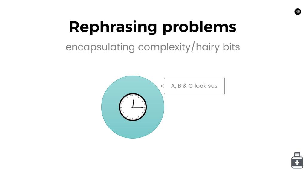 46 Rephrasing problems 46 encapsulating complex...