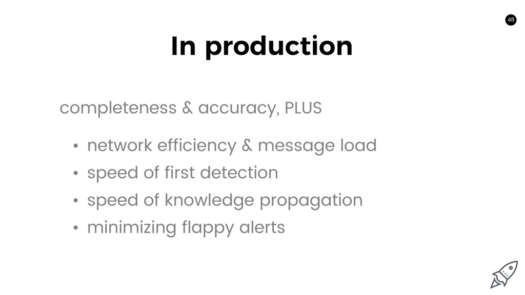 48 In production 48 • network efficiency & mess...