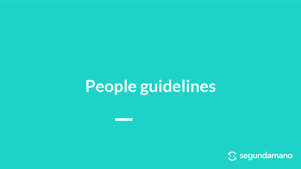 People guidelines