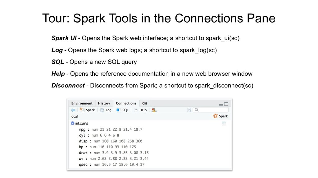 Tour: Spark Tools in the Connections Pane Spark...