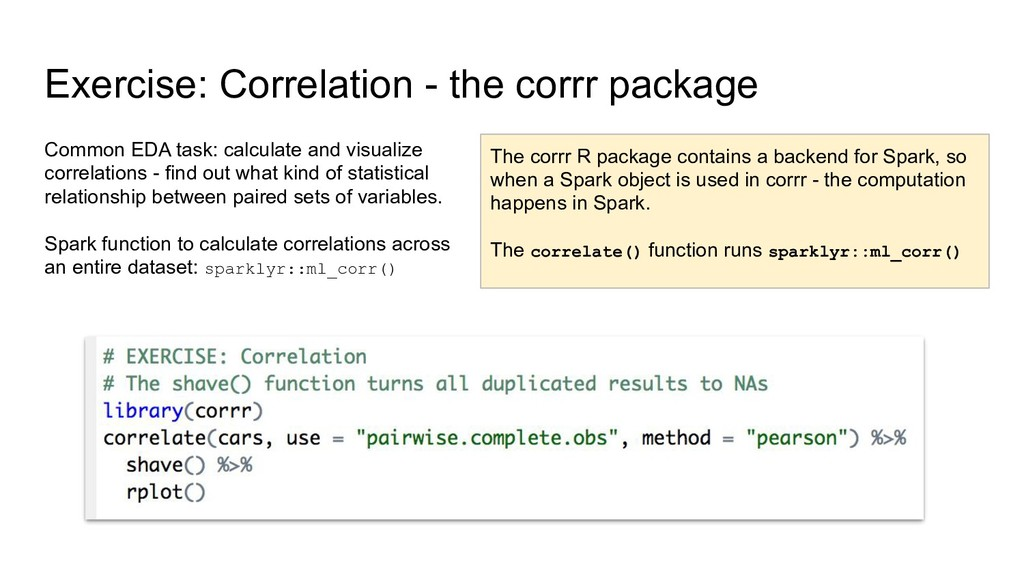 Exercise: Correlation - the corrr package Commo...