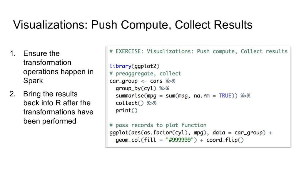Visualizations: Push Compute, Collect Results 1...