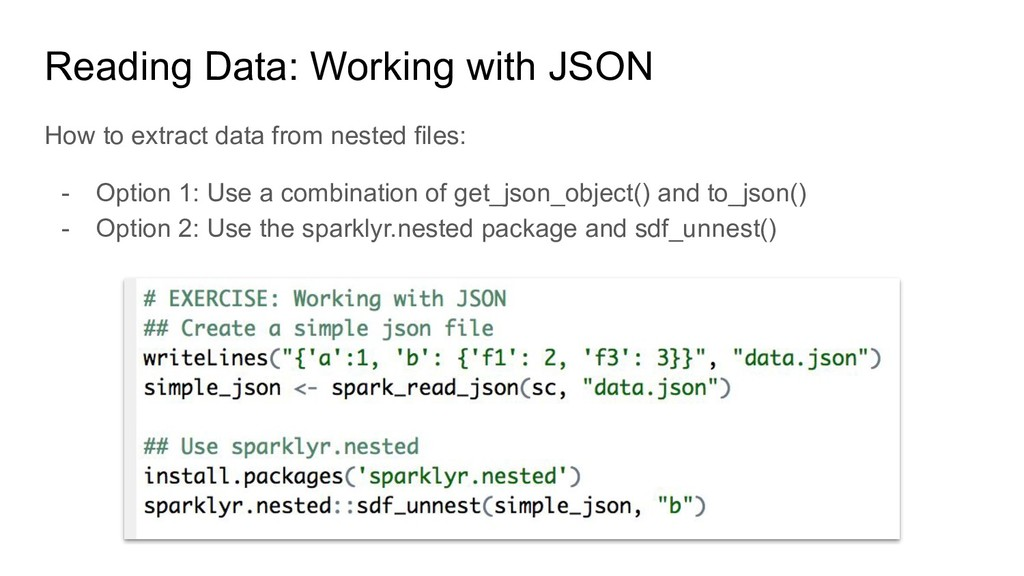 Reading Data: Working with JSON How to extract ...