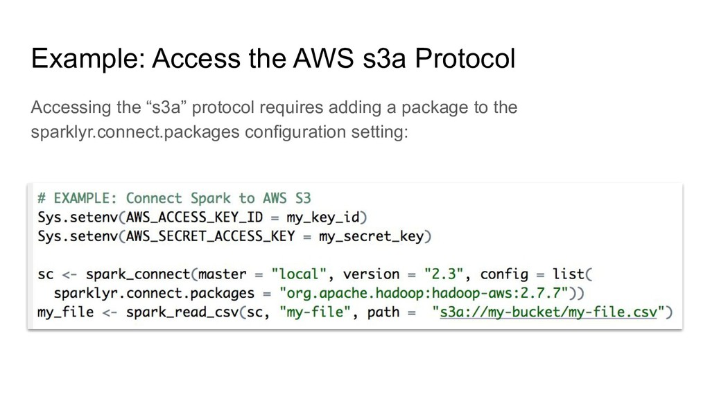 Example: Access the AWS s3a Protocol Accessing ...