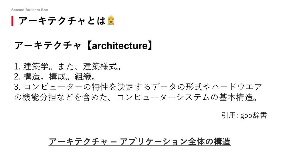 Sansan Builders Box アーキテクチャとは! アーキテクチャ【architec...