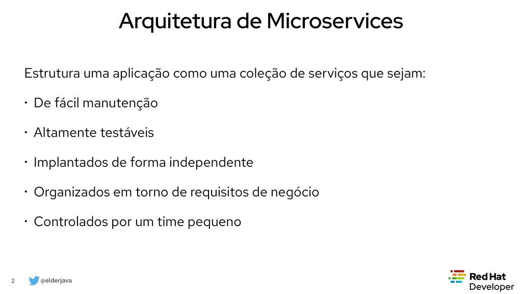 @elderjava 2 Arquitetura de Microservices Estru...