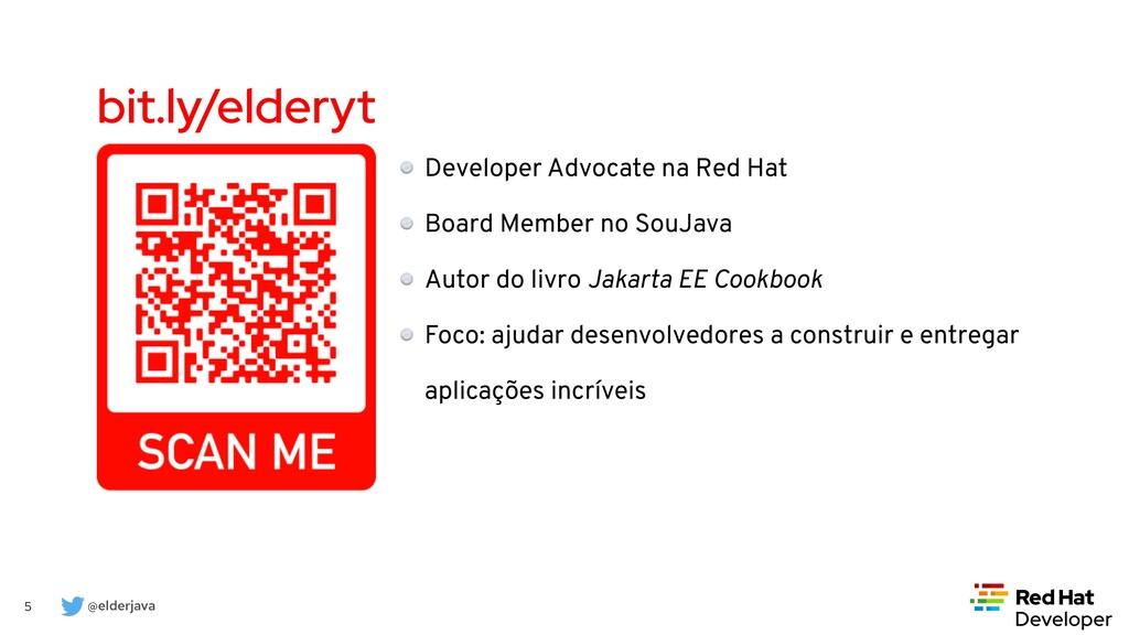 @elderjava 5 bit.ly/elderyt Developer Advocate ...