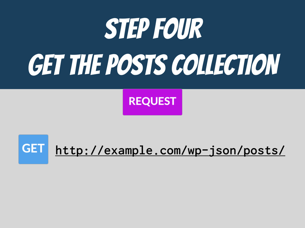 STEP FOUR  GET the POSTS COLLECTION http://exam...