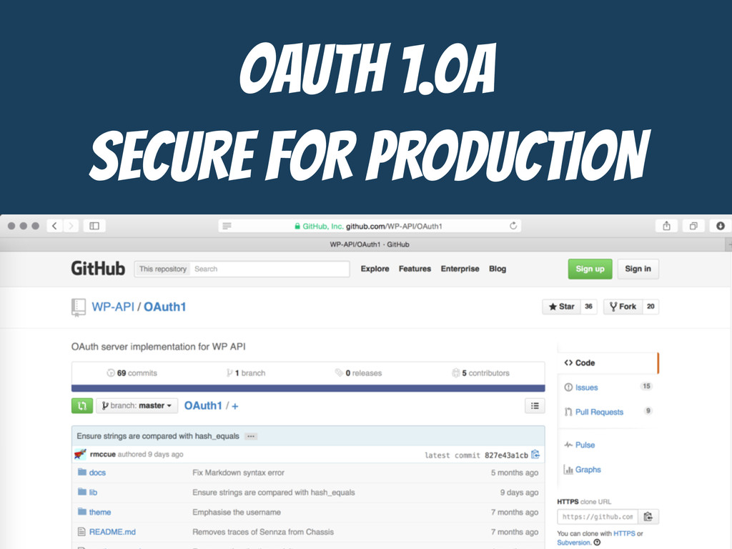 OAUTH 1.0a  SECURE FOR PRODUCTION