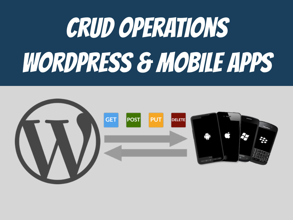 CrUD Operations  WordPress & MOBILE APPS
