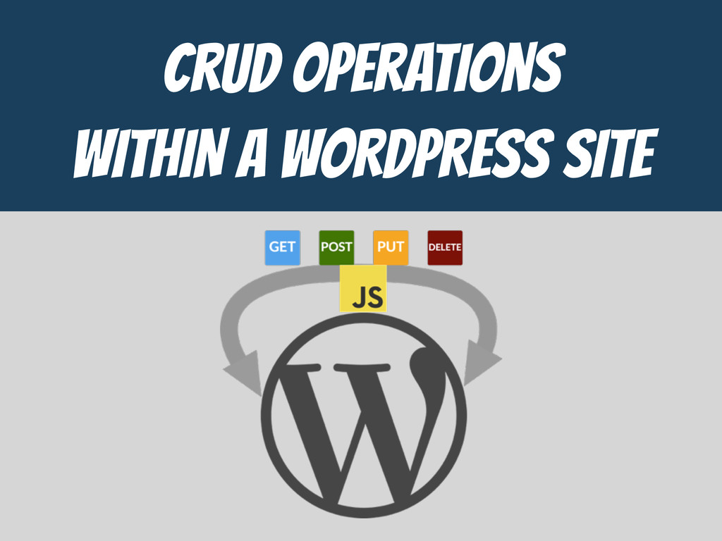 CrUD Operations  WITHIN a WORDPRESS SITE