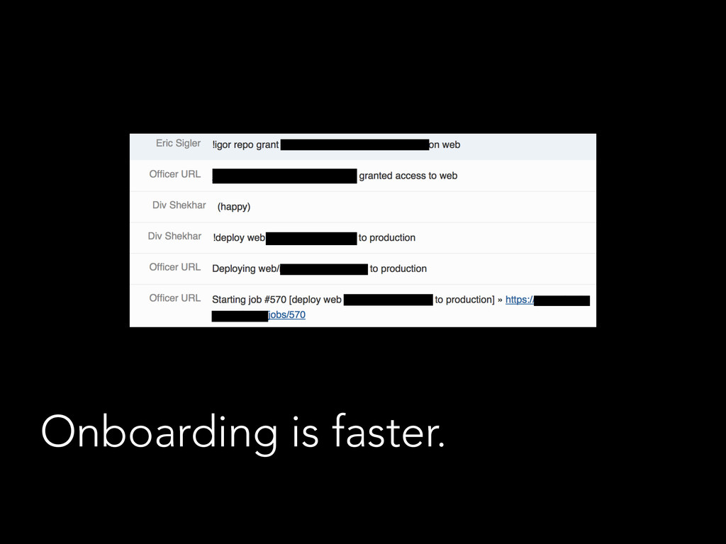 Onboarding is faster.