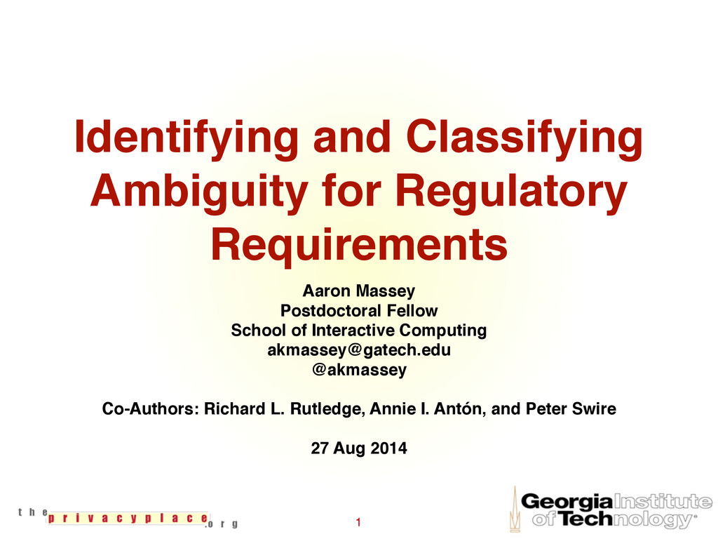 Identifying and Classifying Ambiguity for Regul...