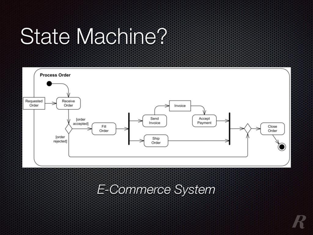State Machine? E-Commerce System