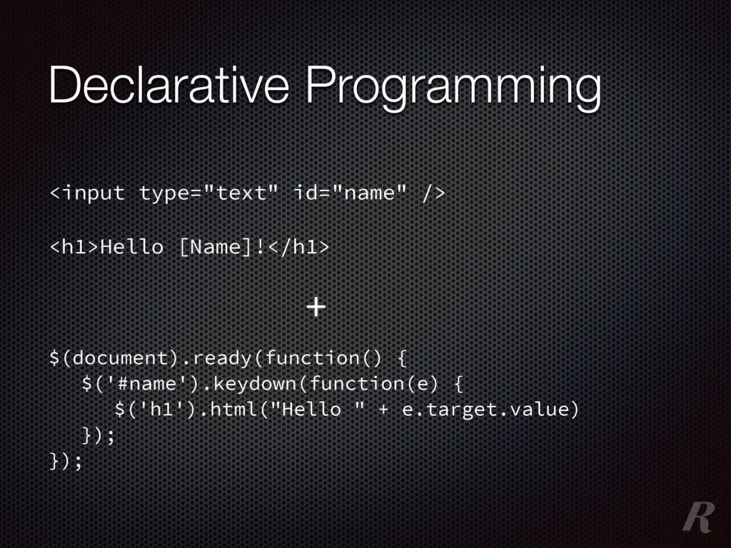 Declarative Programming $(document).ready(funct...