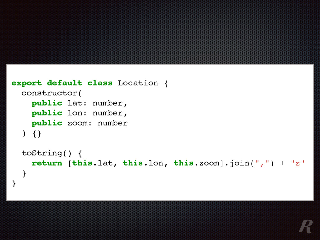 export default class Location { constructor( pu...