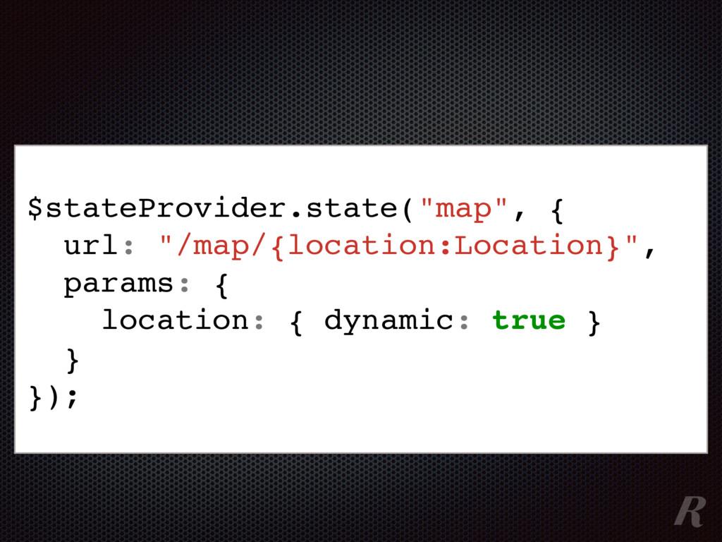"$stateProvider.state(""map"", { url: ""/map/{locat..."
