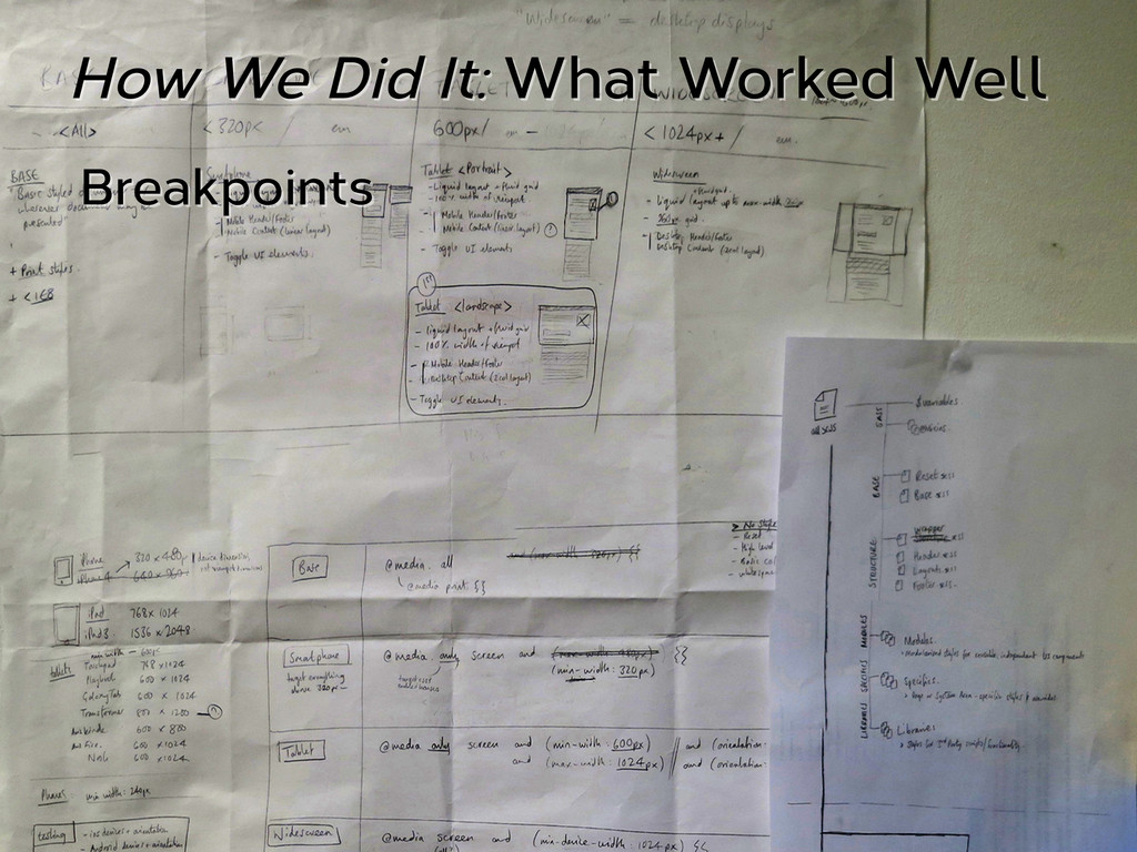 How We Did It: What Worked Well Breakpoints