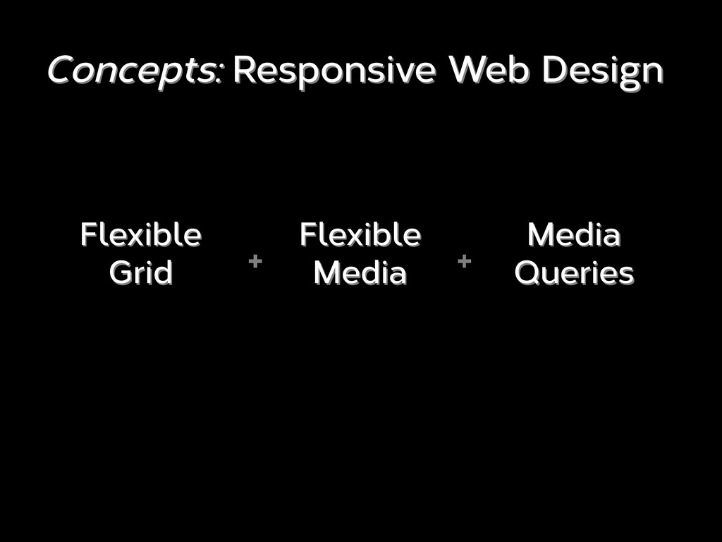 Concepts: Responsive Web Design + Flexible Grid...