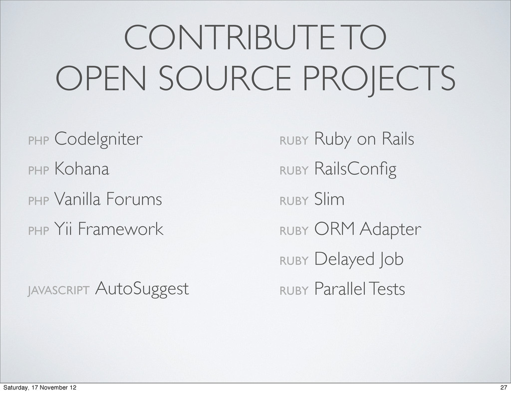 CONTRIBUTE TO OPEN SOURCE PROJECTS PHP CodeIgni...