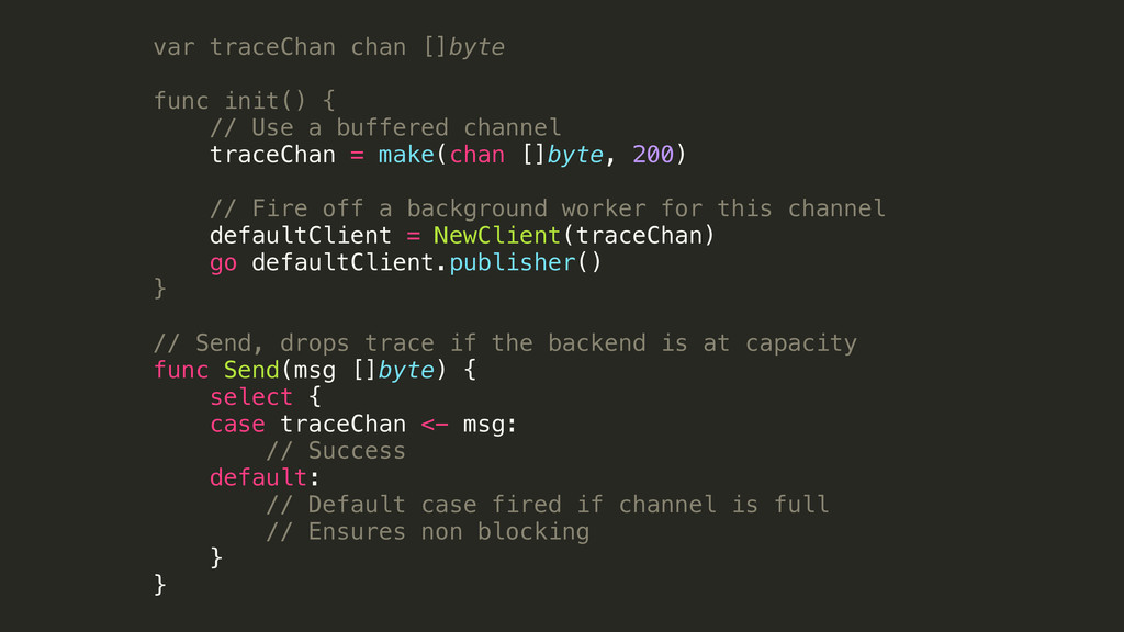 var traceChan chan []byte ! func init() { // Us...