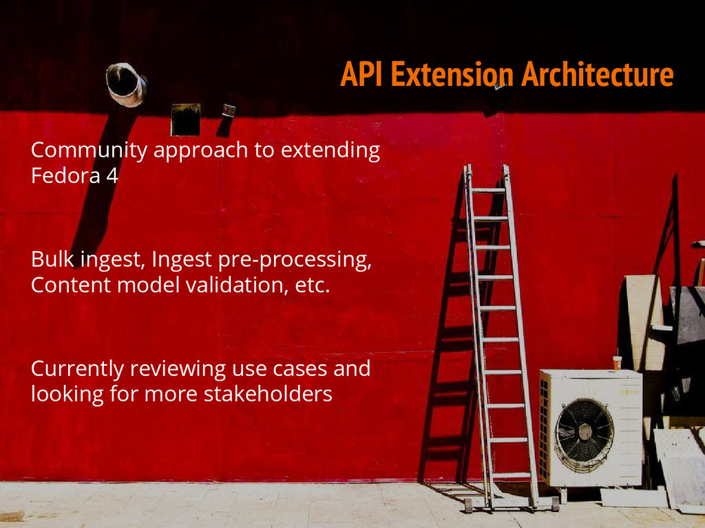 API Extension Architecture Community approach t...
