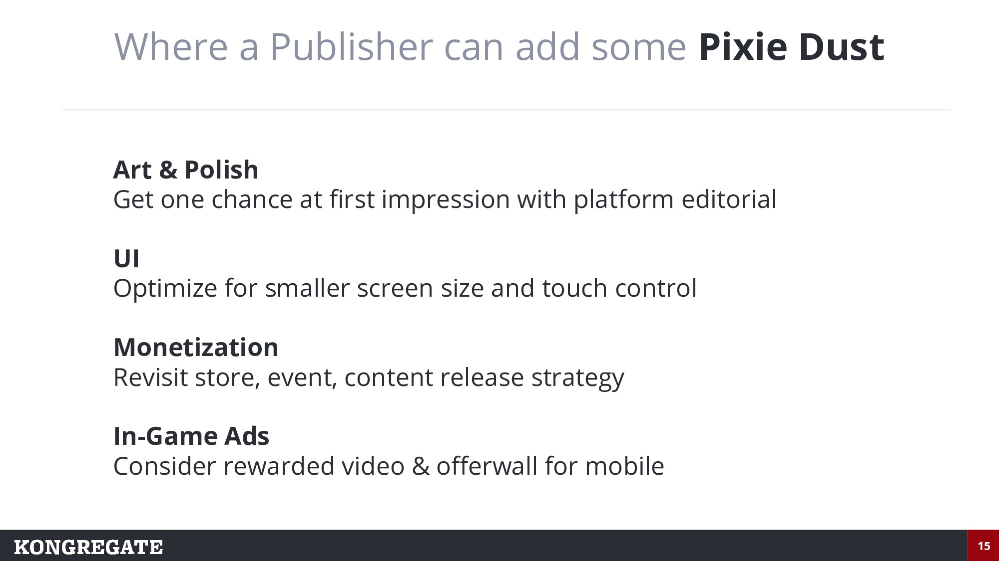 15 Where a Publisher can add some Pixie Dust Ar...