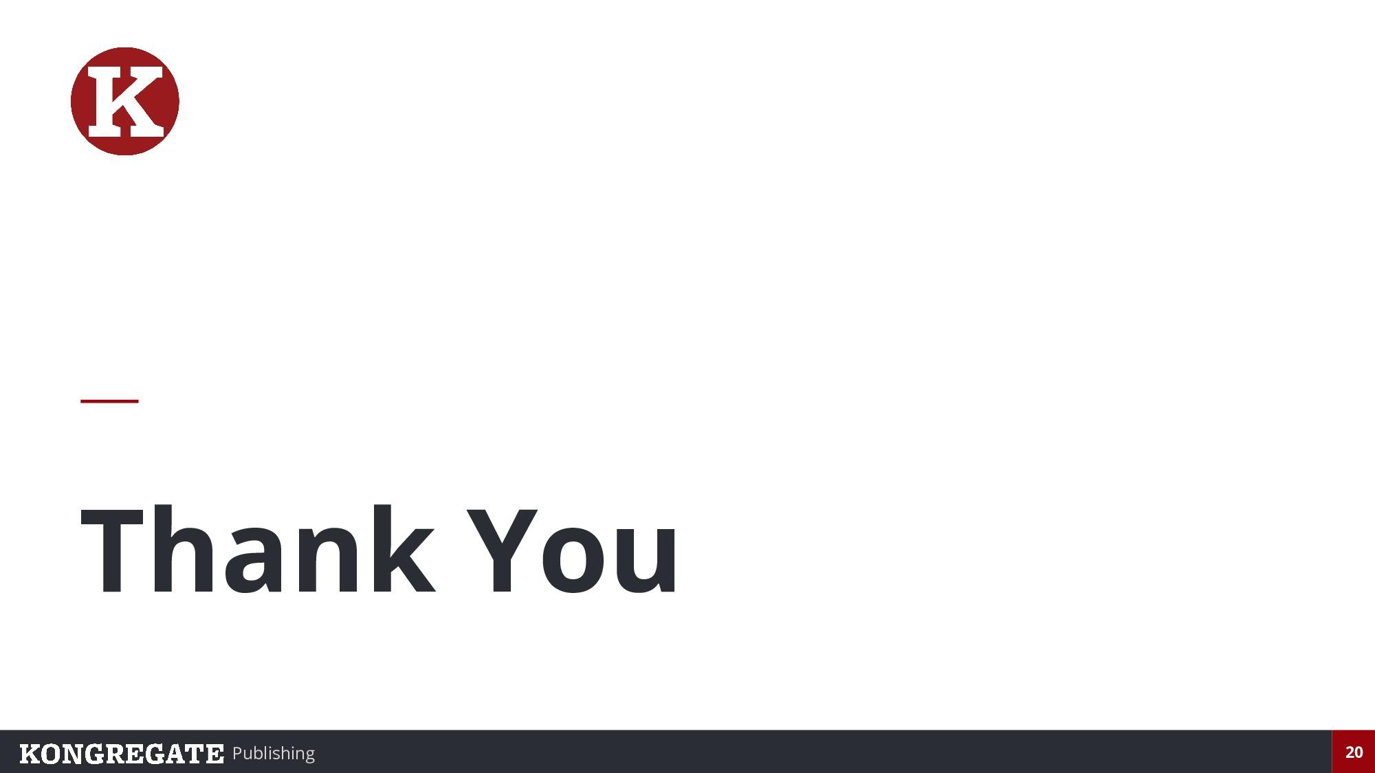 Publishing 20 Thank You
