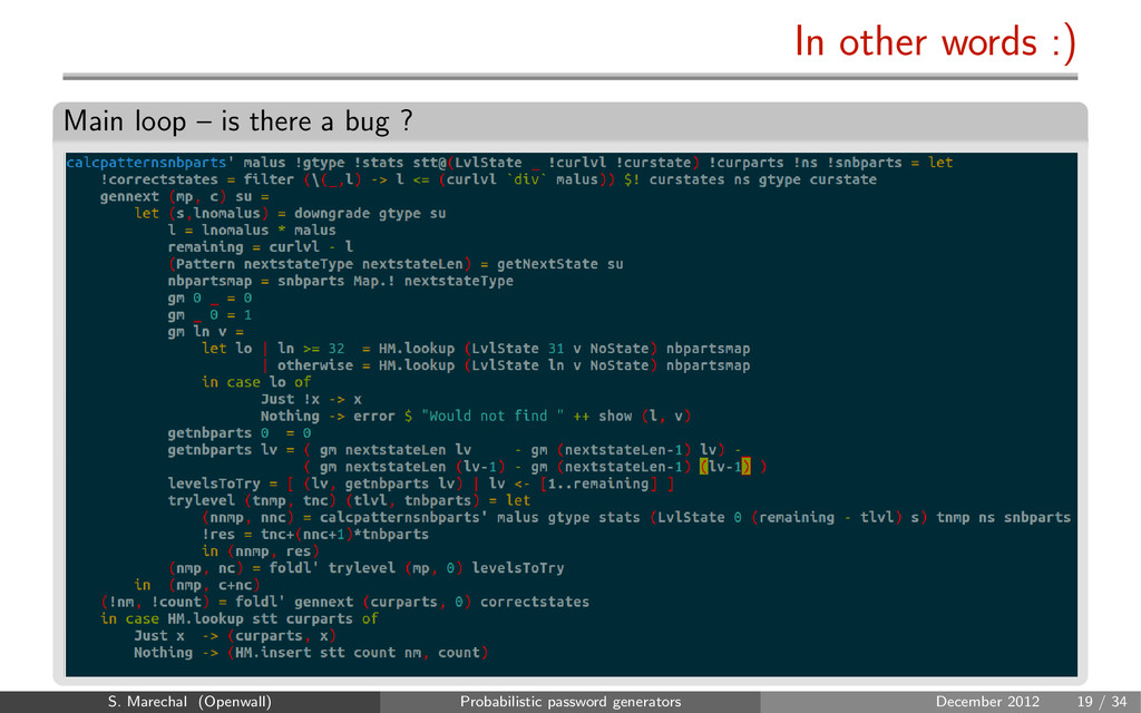 In other words :) Main loop – is there a bug ? ...
