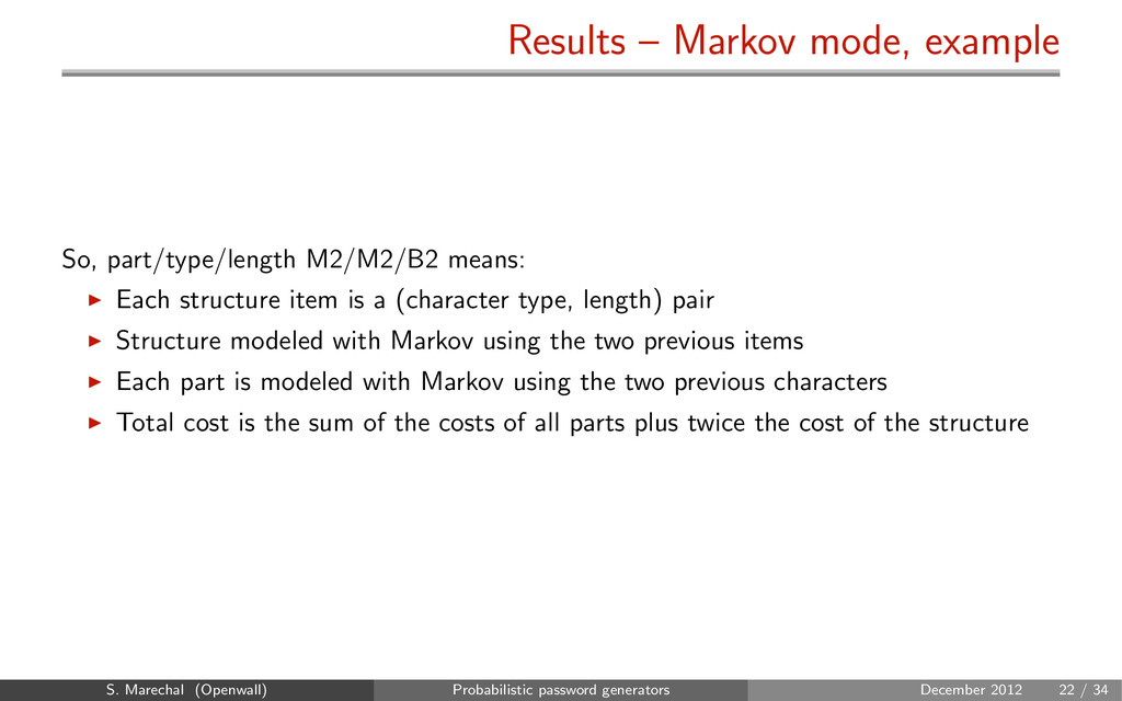 Results – Markov mode, example So, part/type/le...