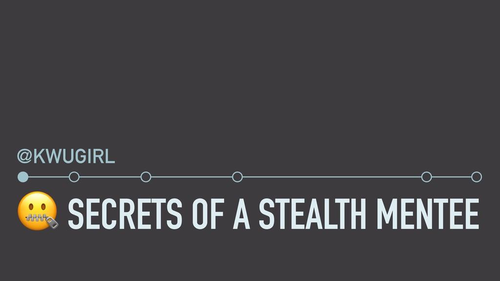 SECRETS OF A STEALTH MENTEE @KWUGIRL