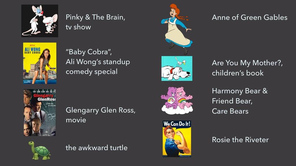"Pinky & The Brain,  tv show ""Baby Cobra"",  A..."