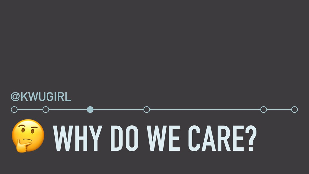 WHY DO WE CARE? @KWUGIRL