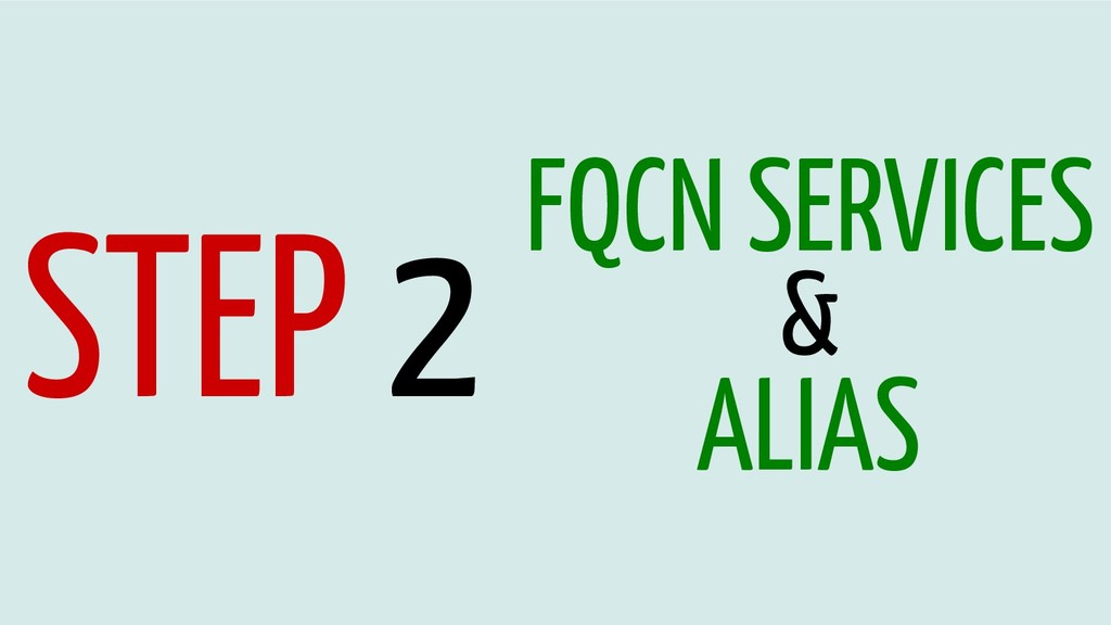 STEP 2 FQCN SERVICES & ALIAS