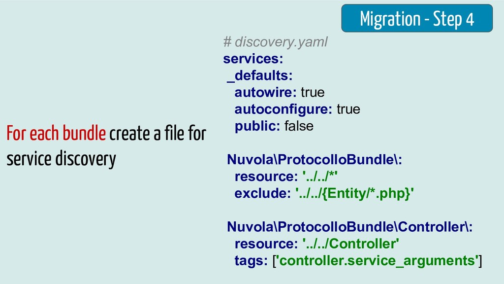 Migration - Step 4 For each bundle create a fil...