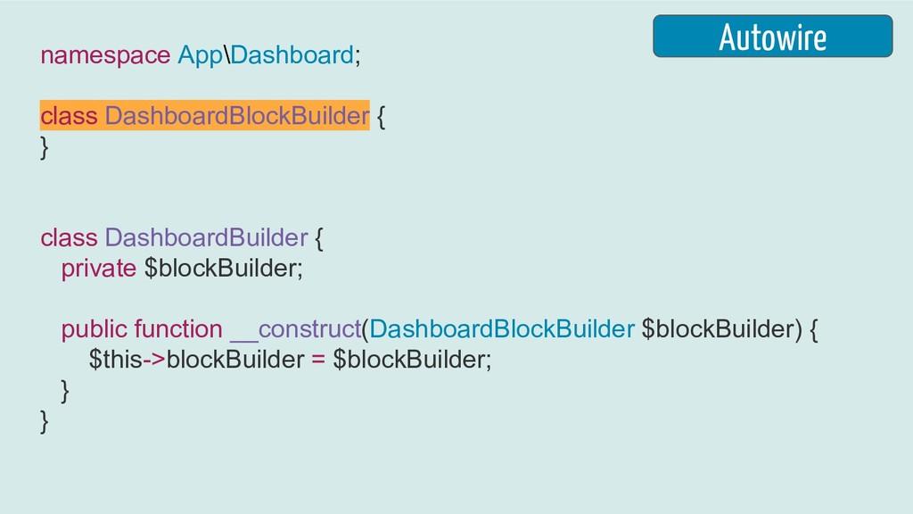 namespace App\Dashboard; class DashboardBlockBu...