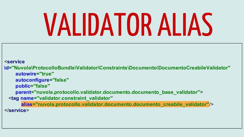 "VALIDATOR ALIAS <service id=""Nuvola\ProtocolloB..."