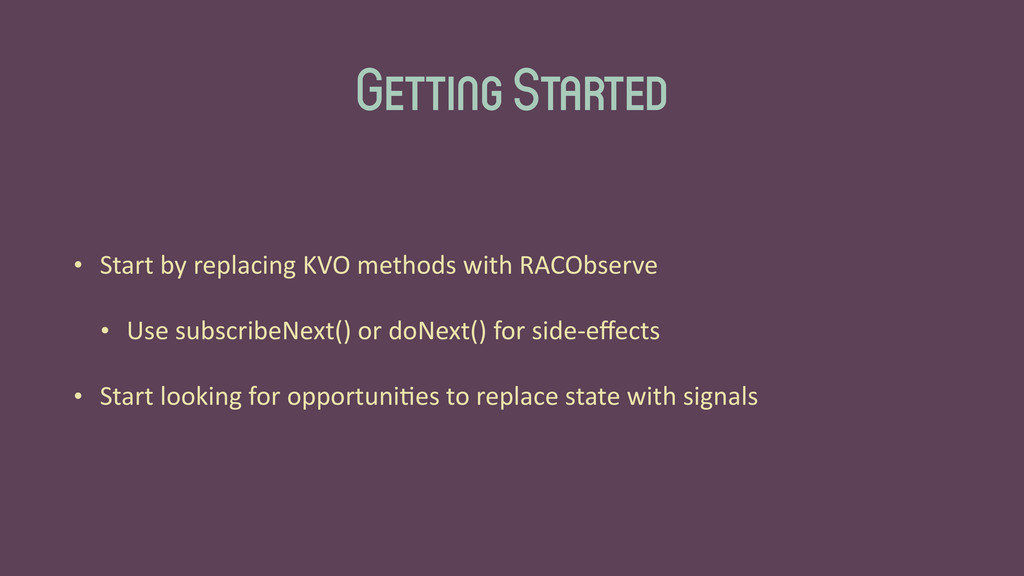 Getting Started • Start	