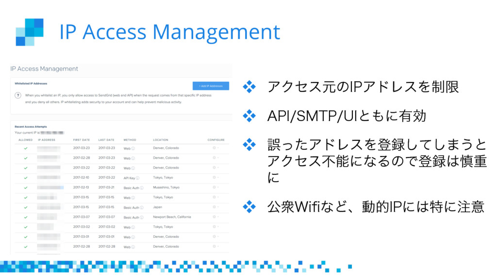 "IP Access Management  ΞΫηεݩͷ*1ΞυϨεΛ੍ݶ  ""1*..."