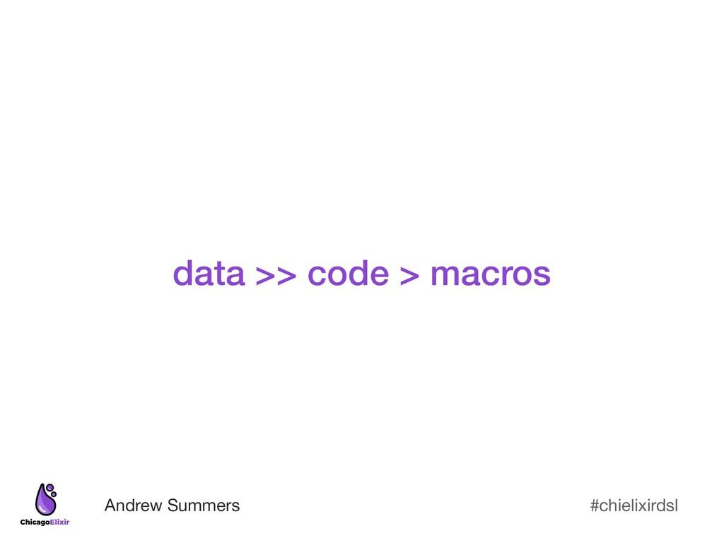 #chielixirdsl Andrew Summers data >> code > mac...