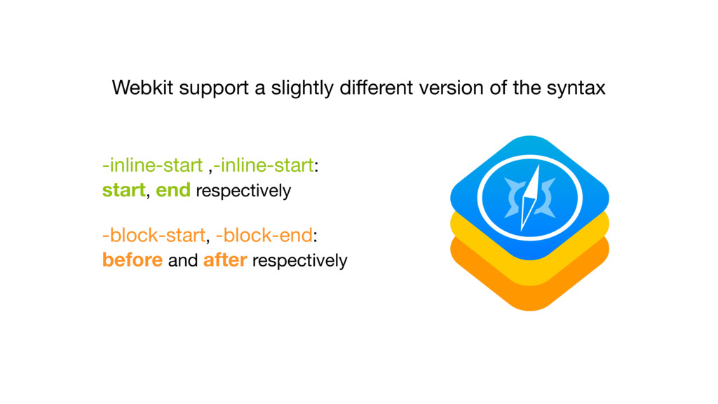 Webkit support a slightly different version of t...
