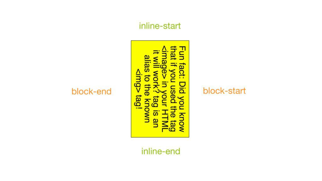 inline-start inline-end block-end block-start