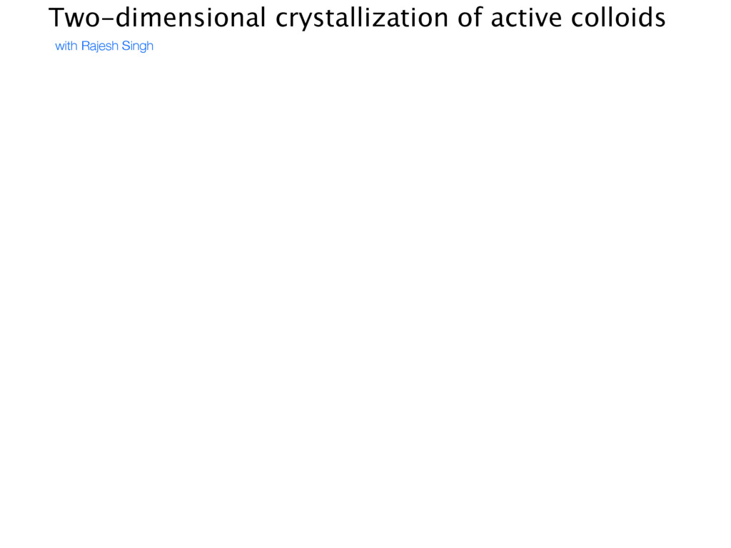 Two-dimensional crystallization of active collo...