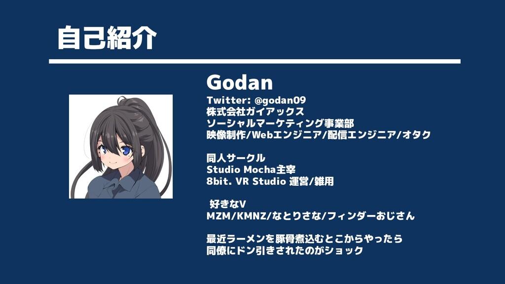 自己紹介 Godan Twitter: @godan09 株式会社ガイアックス ソーシャルマー...