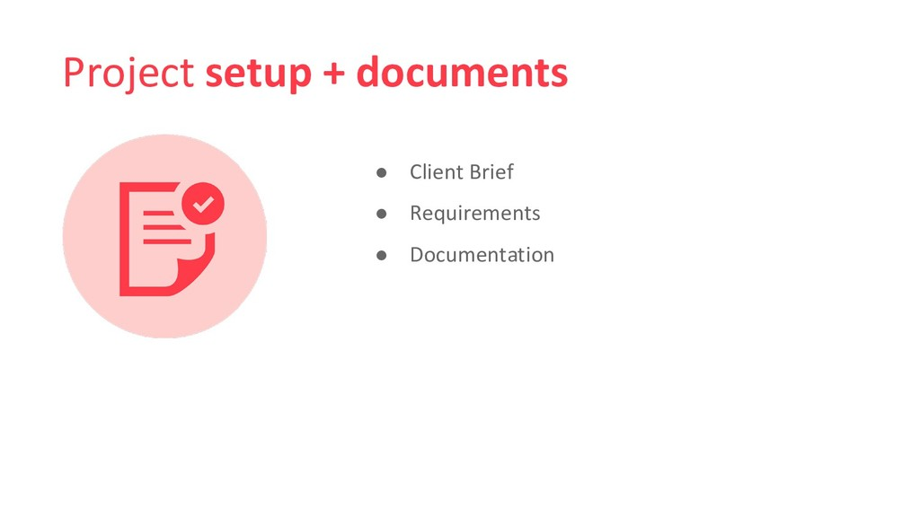 Project setup + documents ● Client Brief ● Requ...