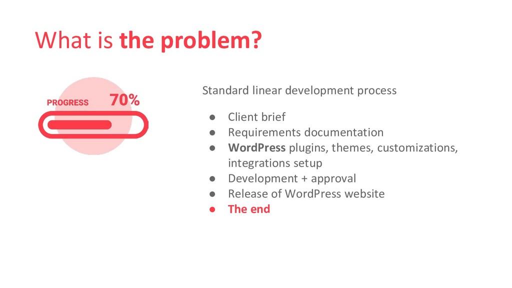 What is the problem? Standard linear developmen...
