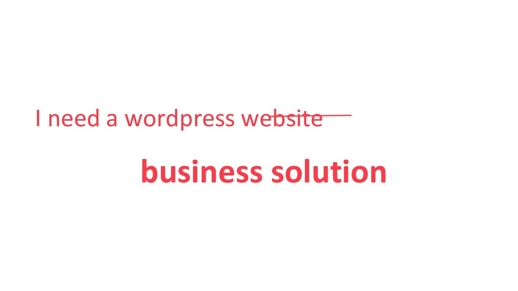 I need a wordpress website business solution