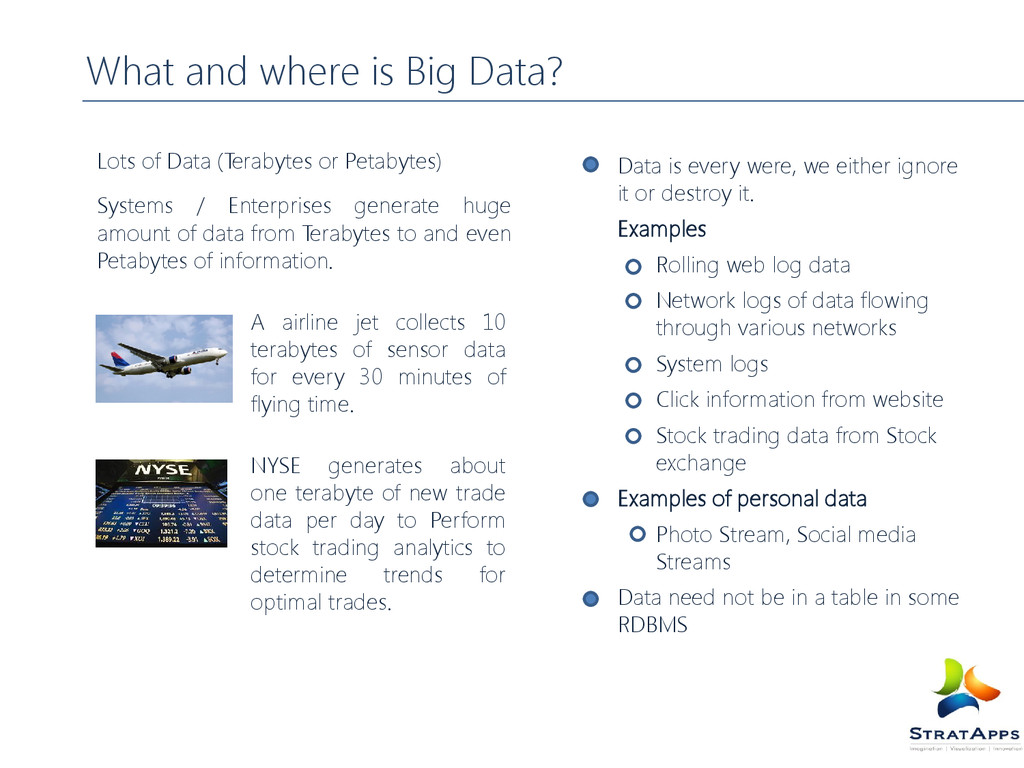 What and where is Big Data? Lots of Data (Terab...