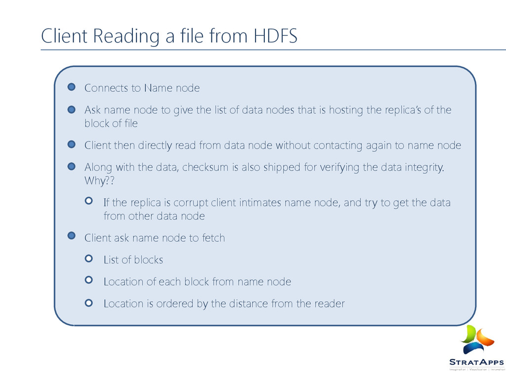 Client Reading a file from HDFS Connects to Nam...