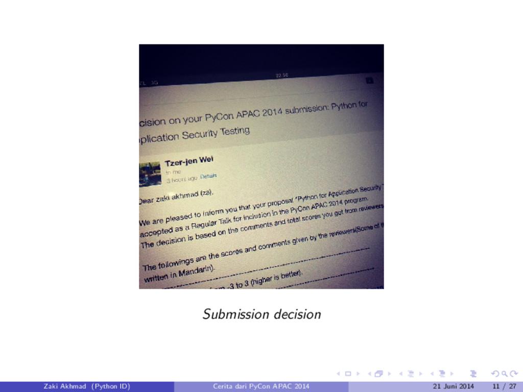 Submission decision Zaki Akhmad (Python ID) Cer...